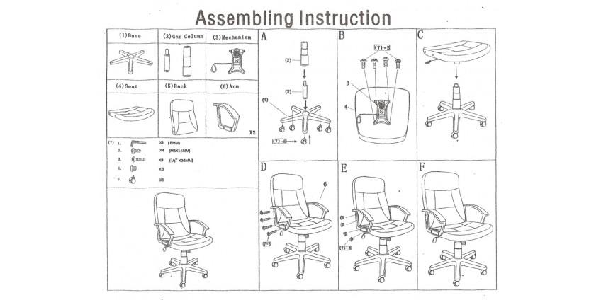 Схема збирання крісла Лукас