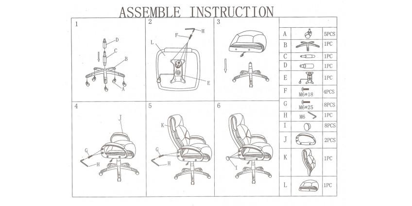 Схема збирання крісла Роланд