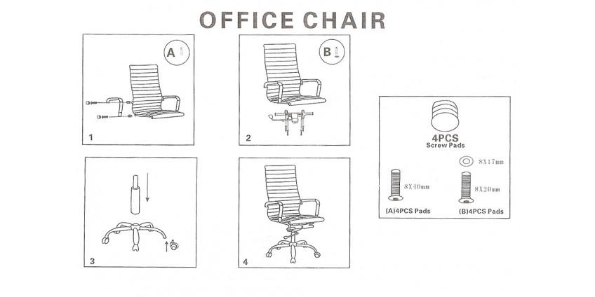 Схема збирання крісел Кап та Дітріх