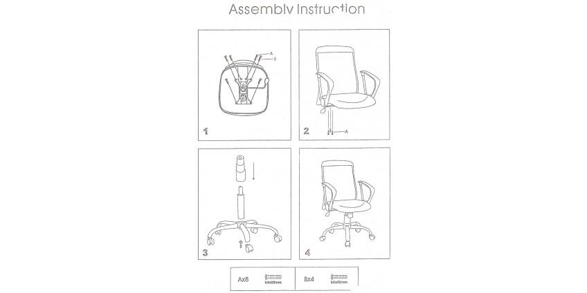 Схема збирання крісла Віст
